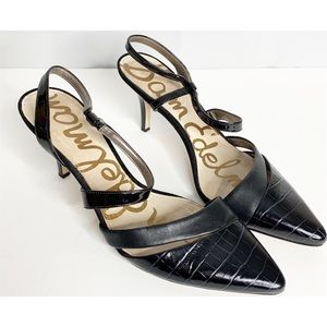Sam Edelman black leather pointed toe othello 9
